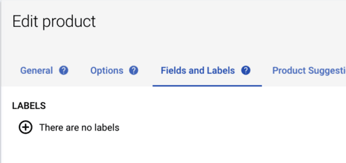 add label to product