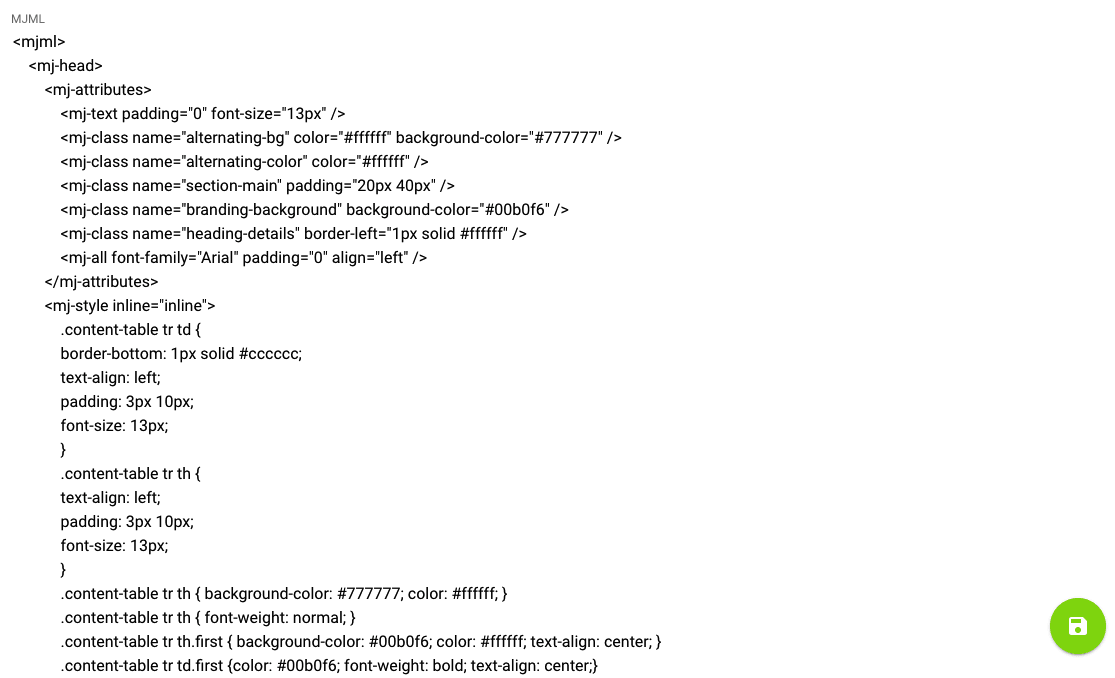 example of mjml document template appearance