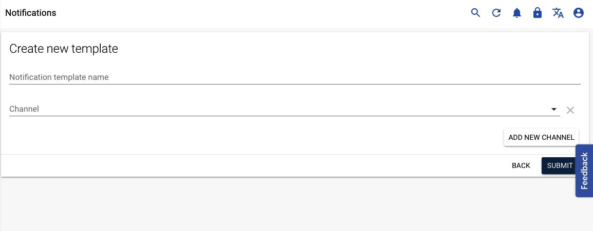 create notification template