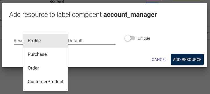 adding a resource to a label component