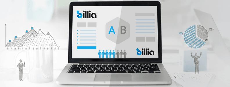 New in Billia - A/B Email Testing