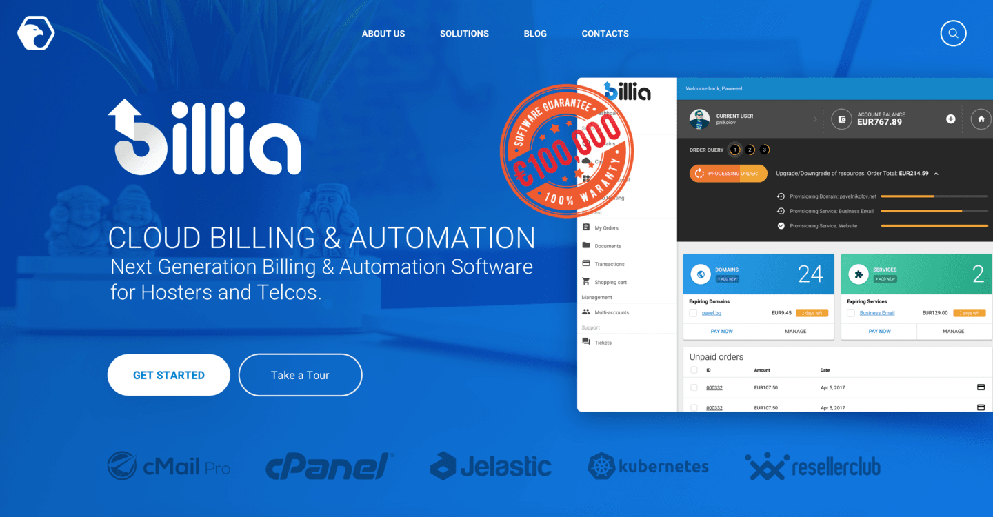 Billia: Billing Software with €100,000 Warranty